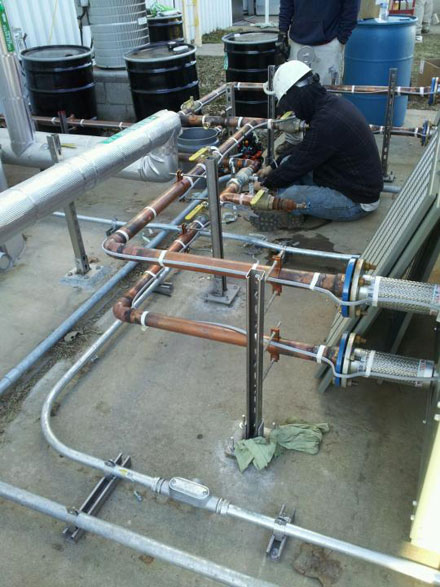Atlantic Wiring Group technician on site